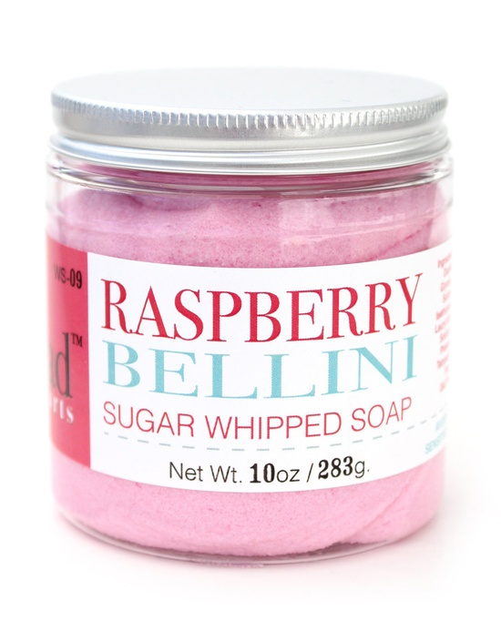 Raspberry Bellini Sugar Whipped Soap by Erin. $14.00, via Etsy.