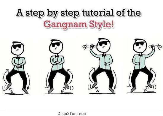 A step by step tutorial of the Gangnam Style