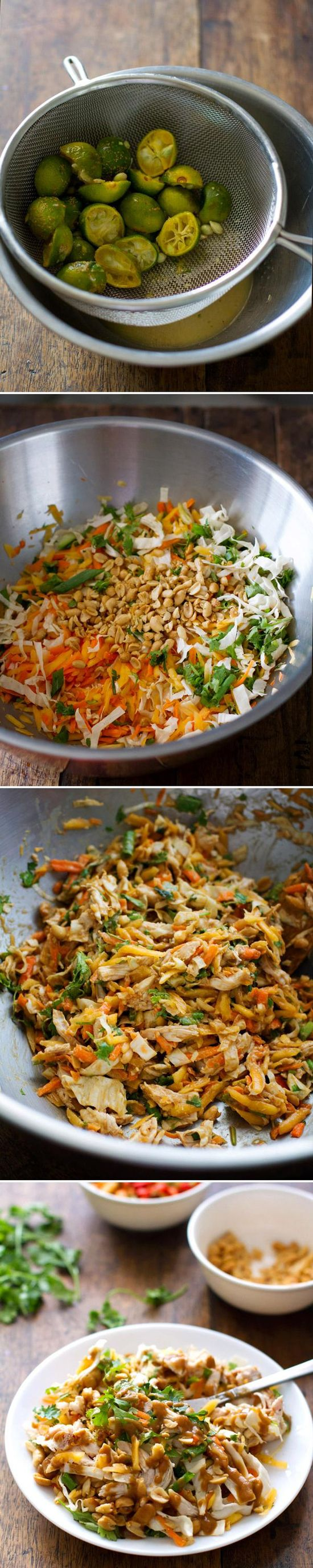 Excite your taste buds with this chopped Thai chicken salad #healthy