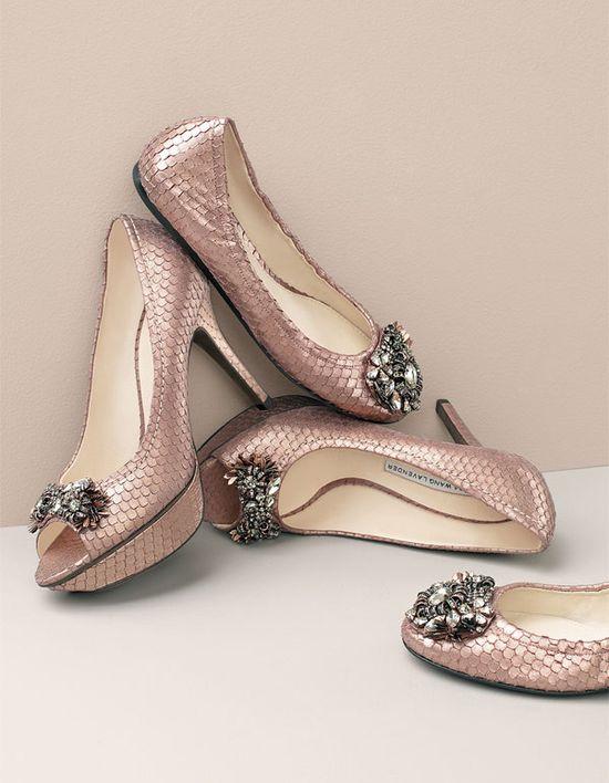 Vera Wang bejewelled shoes