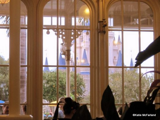 View of Cinderella Castle from Crystal Palace Restaurant in Disney World!