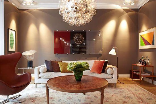 Chocolate Shades for Minimalist Interior Designs: Beautiful Chocolate Interior Theme for living room
