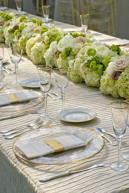 Beautiful Flower Table Runner