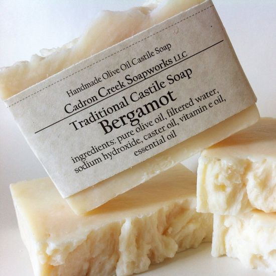 Bergamot Castile Soap handmade by Cadron by CadronCreekSoapworks, $6.00