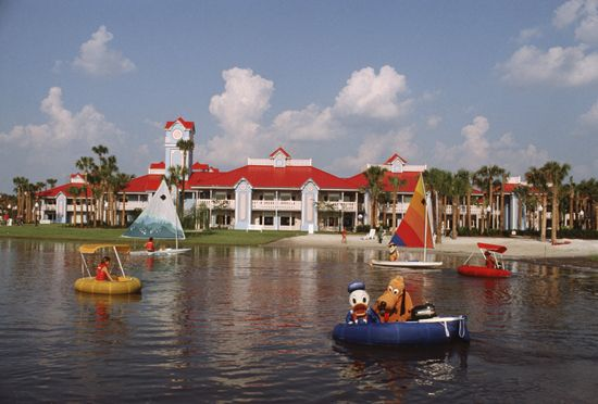 Caption This: Donald  Pluto Have a Blast at Disney's Caribbean Beach Resort at Walt Disney World Resort