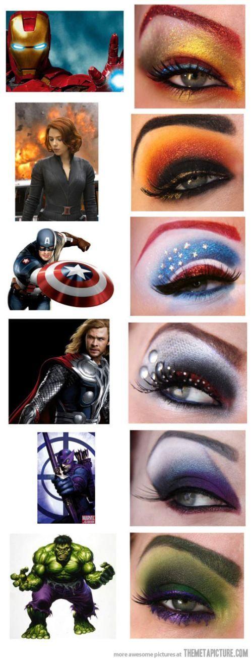 avengers inspired eye makeup