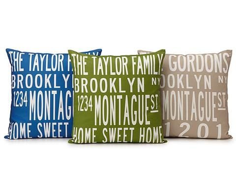 Custom family pillows