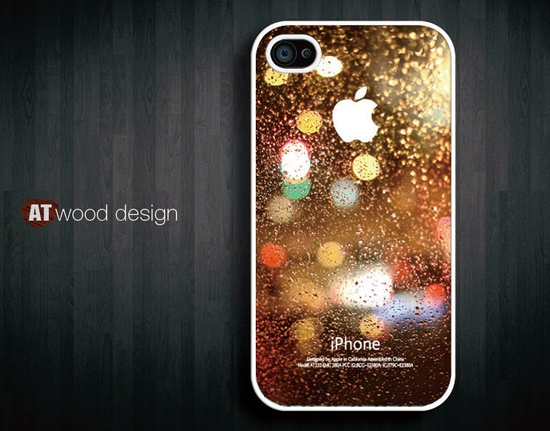 iphone 4 case iphone 4s case iphone 4 cover Rain by Atwoodting