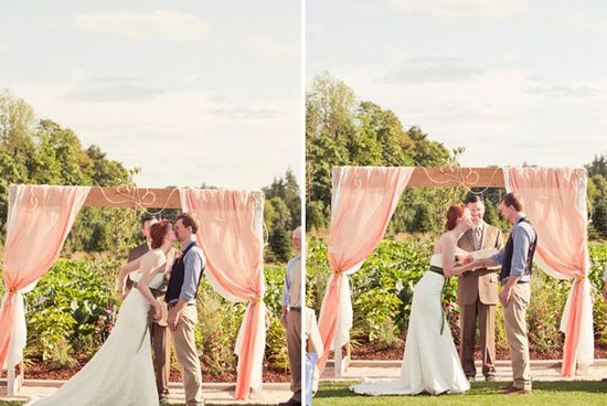 love the flowing curtains  & would be great for a wedding backdrop...