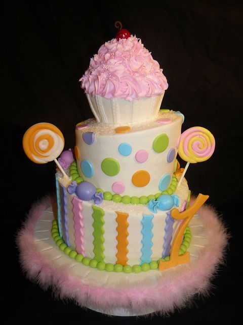 Cupcake and Candy Cake