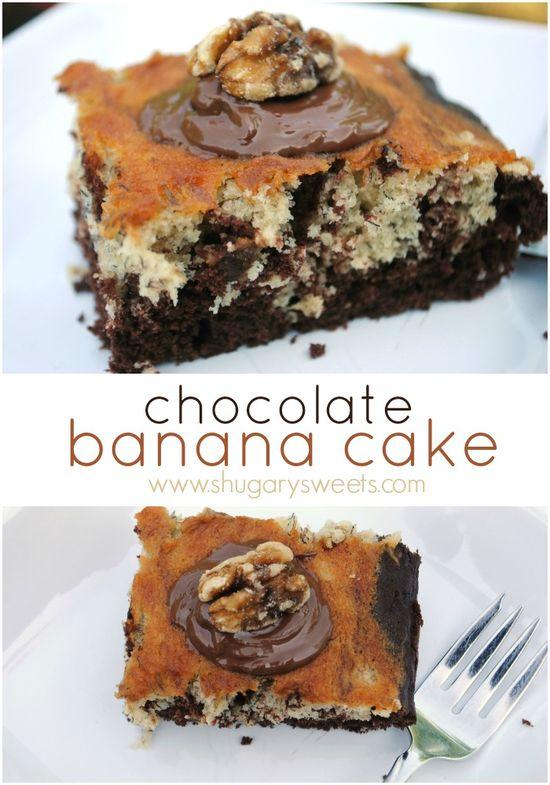 Chocolate banana snack cake recipe