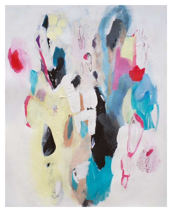 Abstract painting Acrylic painting Giclee print by LolaDonoghue, $75.00
