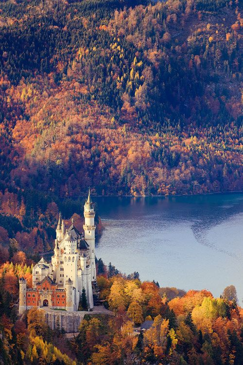 Neuschwanstein Castle, Germany  ? ?  www.paintingyouwi...