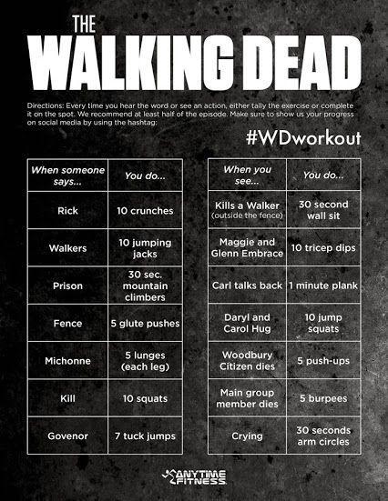 The Walking Dead work out  lol
