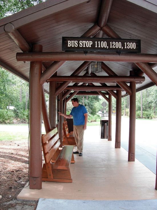 Fort Wilderness - Bus stop for transportation within campground and to other Walt Disney World Resort areas