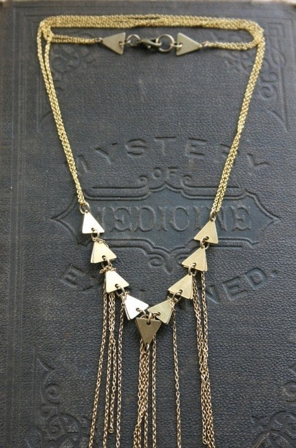 Geometric Fringe Necklace: Laura Lombardi