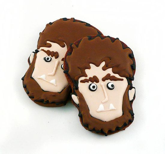 Decorated Cookies  Halloween  Wolfman  1 dozen by katieduran,