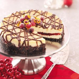 Cranberry Orange Cheesecake.  Sounds tastey