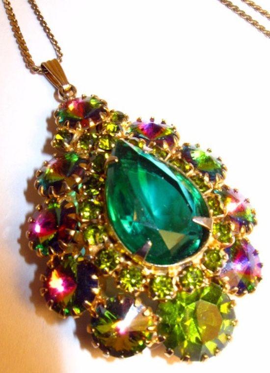 Vintage rhinestone pendant