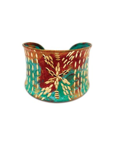 Turquoise Painted Cuff