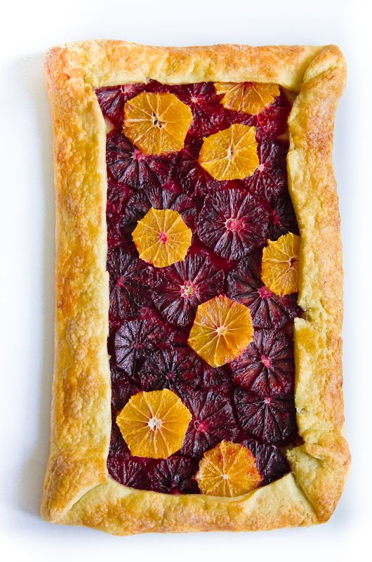 Blood Orange and Clementine Galette #kitchen #dessert