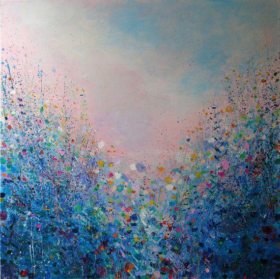 """Saatchi Online Artist: Sandy Dooley; Acrylic, 2013, Painting """"Evening Garden"""""""