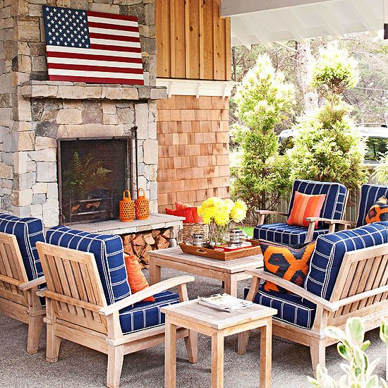 Cozy outdoor living space...