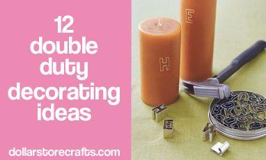 12 Double Duty Decorating Ideas