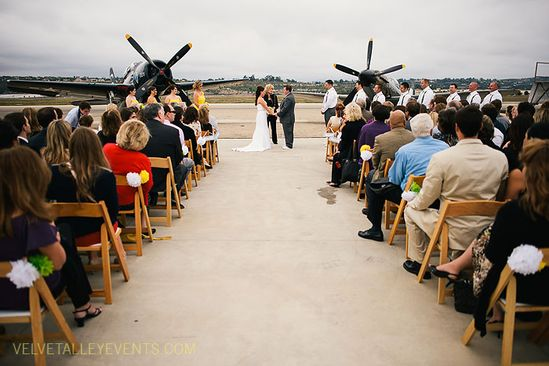 Camarillo Airport Museum Wedding Photos