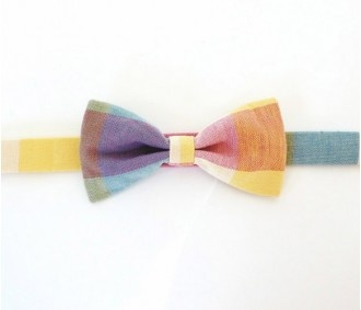 Plaid bow tie.