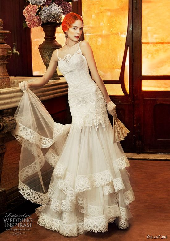 Yolan Cris 2011 Revival Vintage bridal collection - Monaco wedding dress #Gatsby #1920s