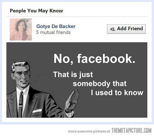 No Facebook…