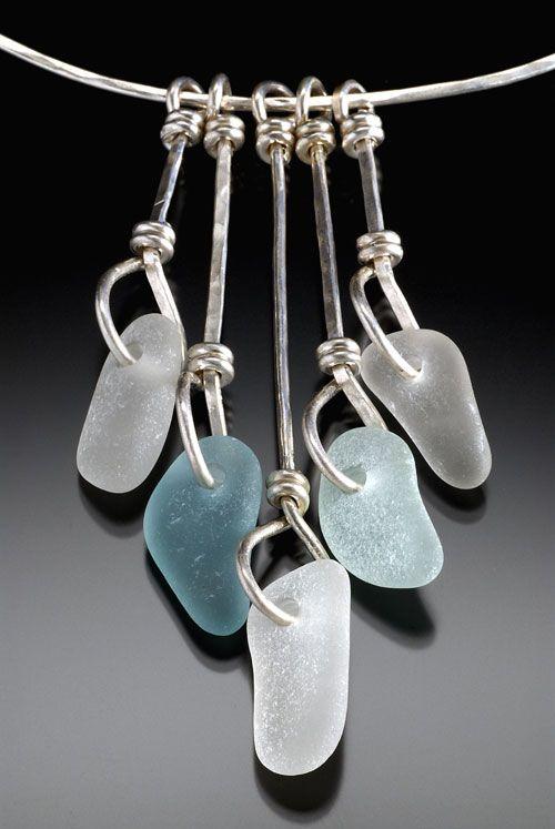 beach glass necklace by beach glass bingo