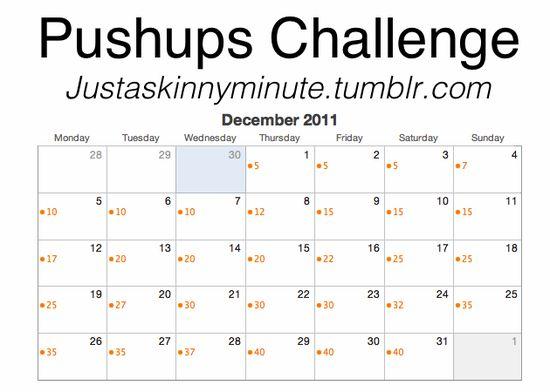 30 Day Squat/Crunch/Plank/Push Up Challenge with Tutorials on ...