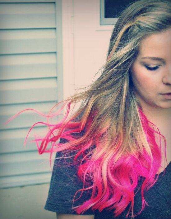 """Dip"" Dyed Hair"