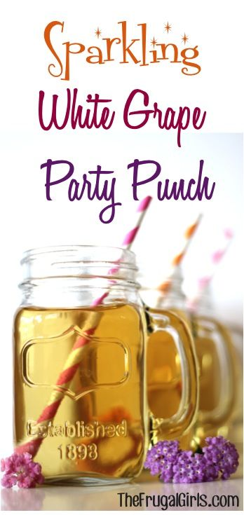 Sparkling White Grape Party Punch! ~ from TheFrugalGirls.com ~ perfect for your parties, holidays, and showers! #thefrugalgirls #recipes