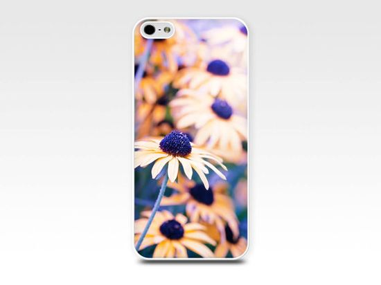 floral iphone case iphone case 4 4s 5 5s yellow by mylittlepixels