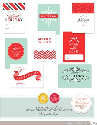 Gifted Magazine Free Printable Christmas Tags