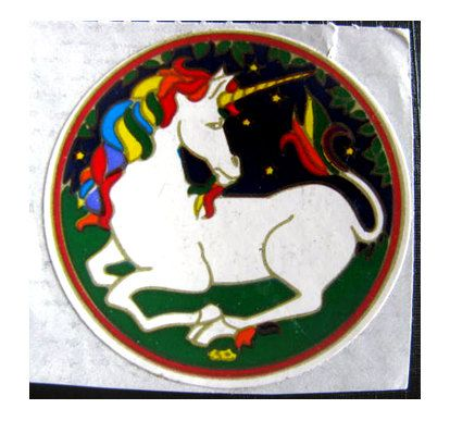 classic 80s unicorn sticker.