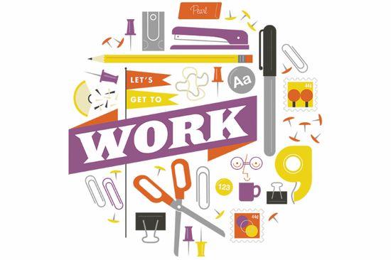 work office illustration