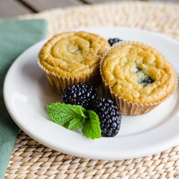 Paleo Banana Blackberry Muffins are gluten-free, grain-free and dairy-free.