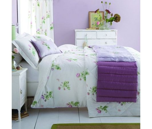 purple bedroom design idea - Home and Garden Design Ideas