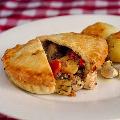 Chicken and Roasted Vegetable Pot Pie