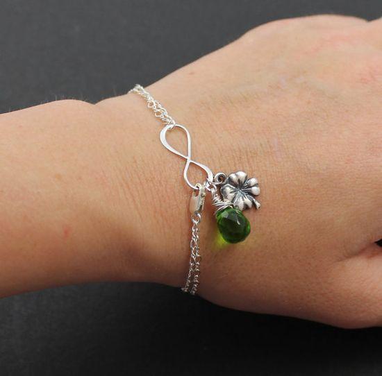 Silver Infinty Irish Luck Bracelet Wedding Jewelry by JamJewels1, $39.50
