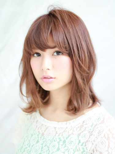 medium length hair with bangs and layers