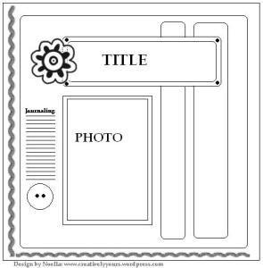 scrapbook layout