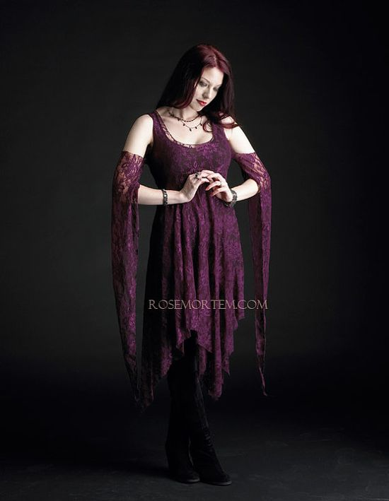Eolande Lace Gothic Dress / Fairy Dress  Custom Made by rosemortem, $199.00