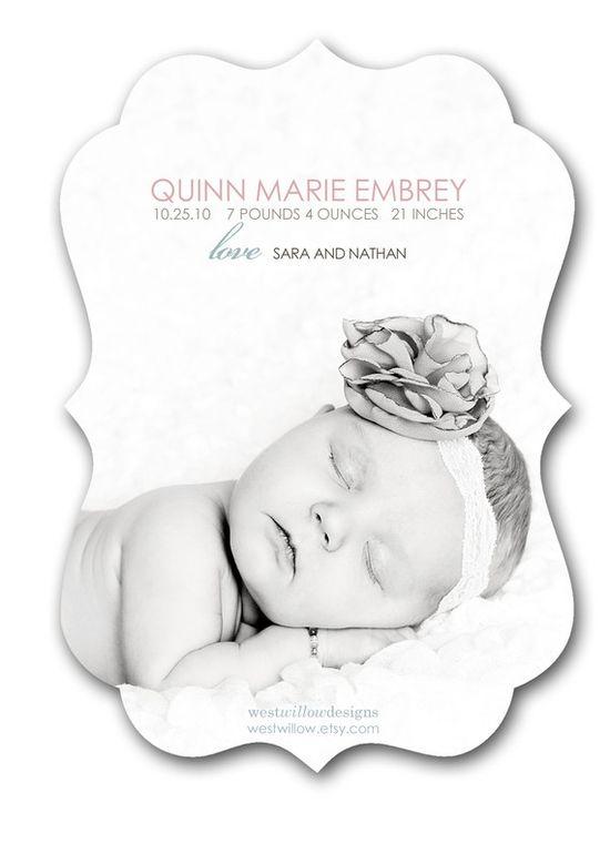 Birth Announcement - can also do ornate templates