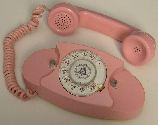 pink princess rotary phone