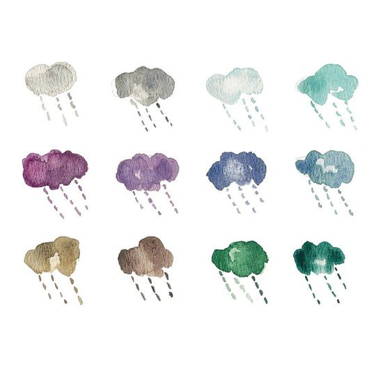 Rain Clouds Art Print, The Joy of Color via Etsy